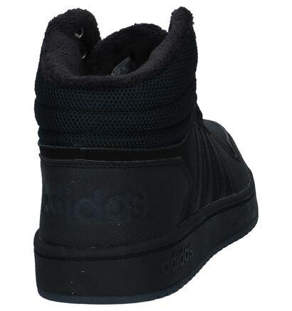 adidas Hoops 2.0 Hoge Sneakers Zwart, Zwart, pdp