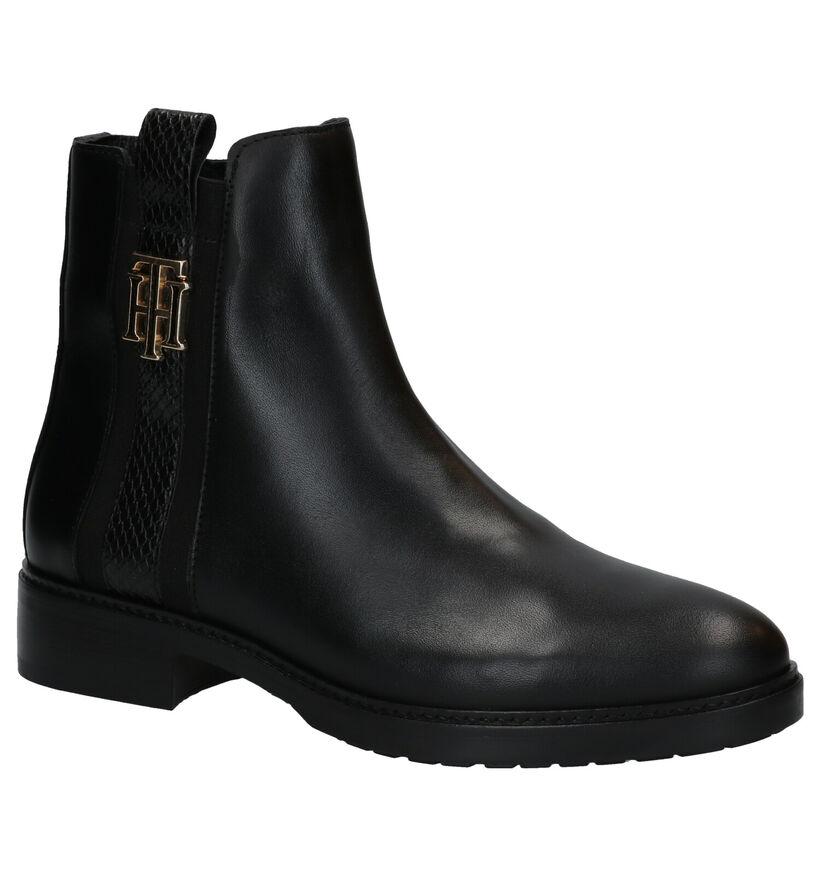 Tommy Hilfiger Interlock Leather Bottillons en Noir en cuir (279998)