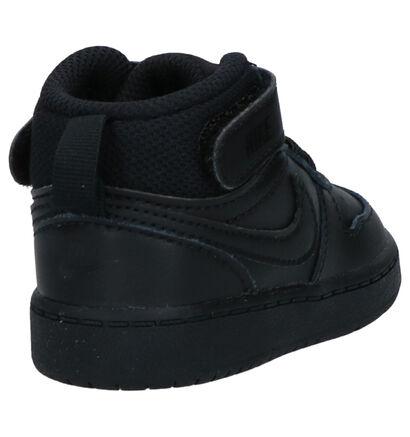 Nike Court Borough Mid Zwarte Sneakers in kunstleer (261670)
