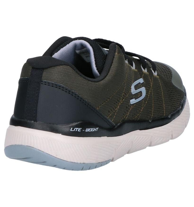 Skechers Flex Advantage 3.0 Kaki Sneakers in stof (256146)