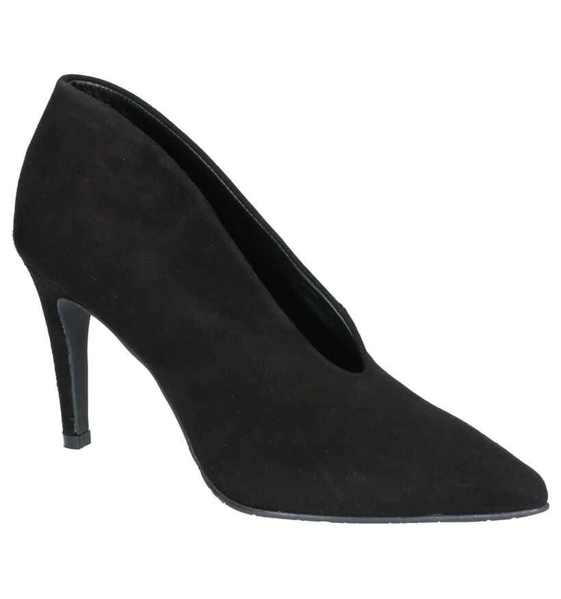 Sergio Turri Zwarte Pumps in nubuck (262605)