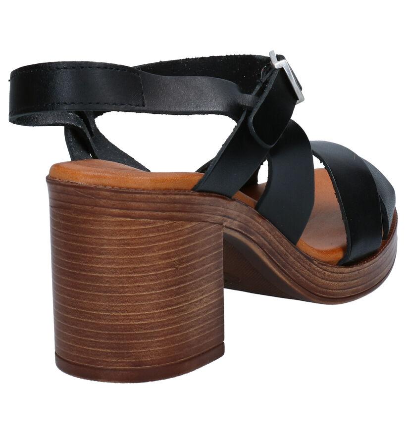 Red Rag Zwarte Sandalen in leer (275497)
