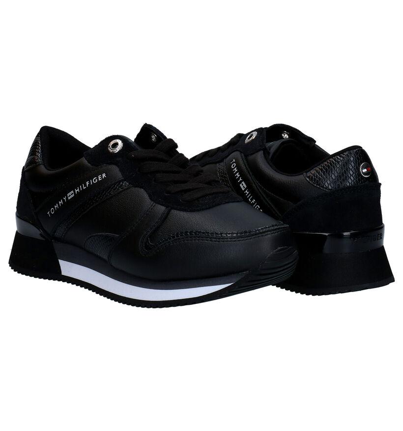 Tommy Hilfiger Active Material Baskets en Noir en cuir (280019)
