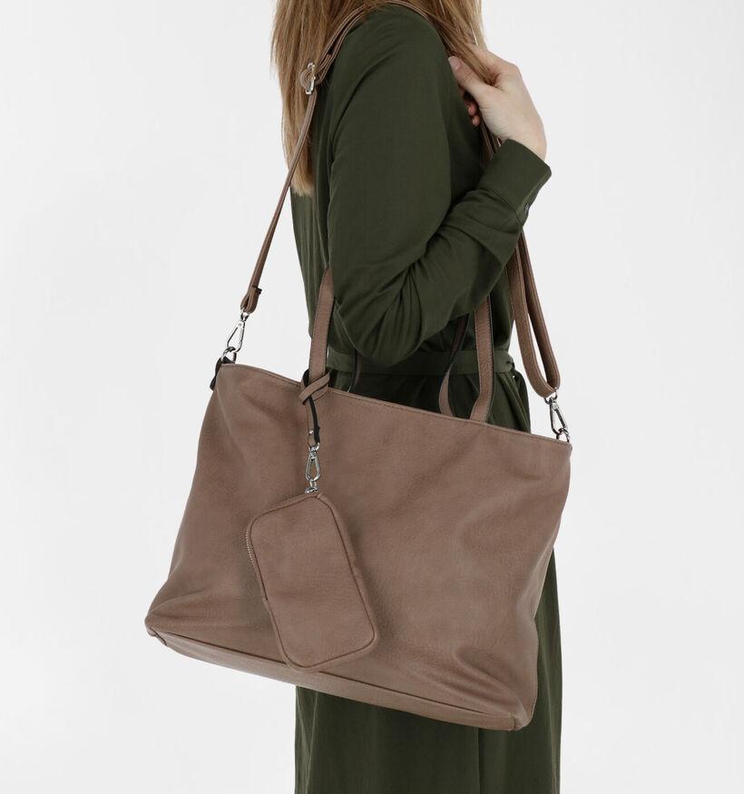 Emily & Noah Cabas bag in bag en Noir en simili cuir (282183)