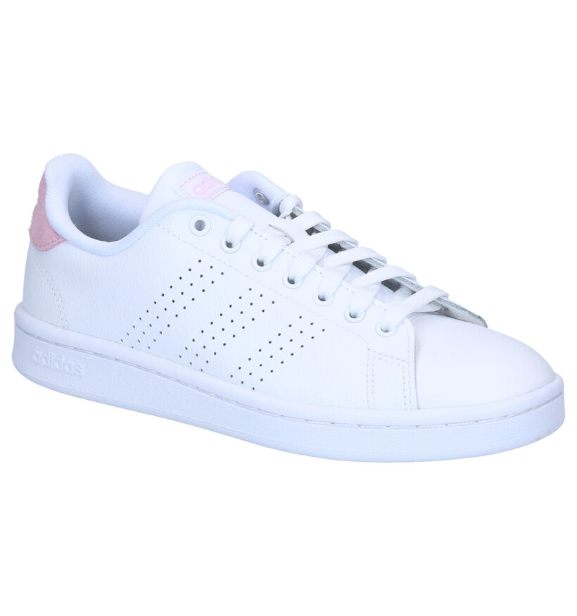 adidas VS Advantage Baskets en Blanc en simili cuir (242053)