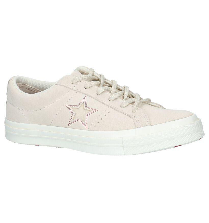 Beige Sneakers Converse One Star OX in daim (238037)