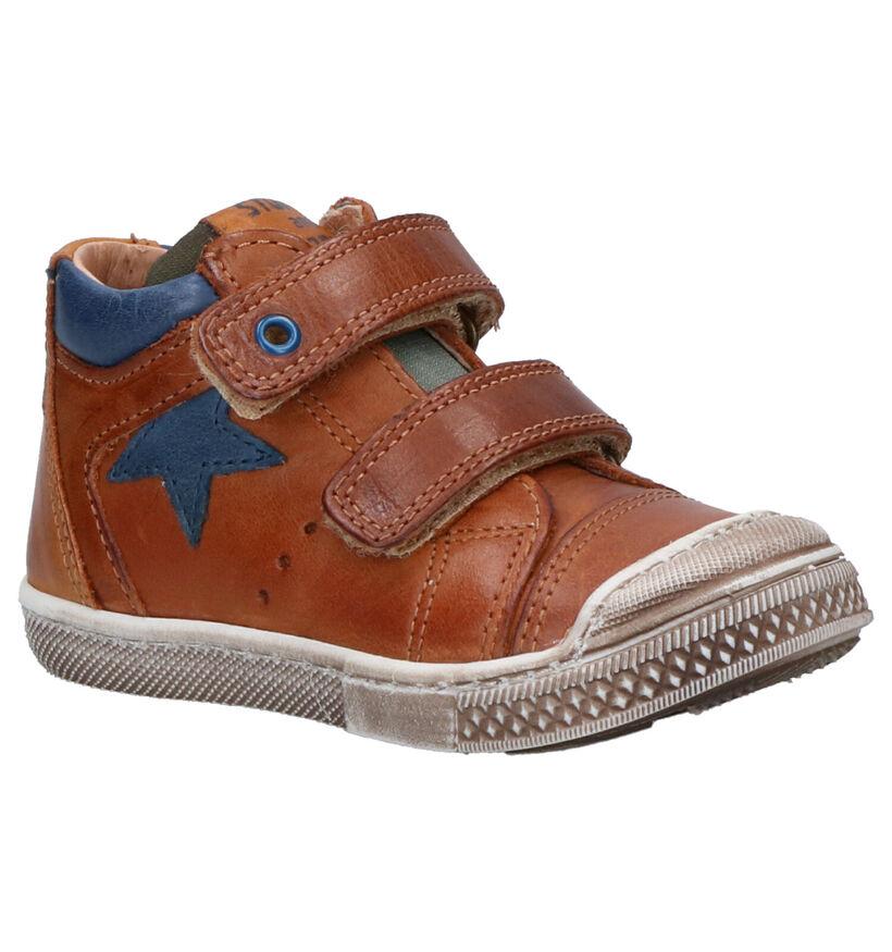 STONES and BONES Chaussures hautes en Cognac en cuir (255457)
