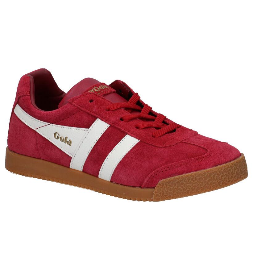Gola Classics Rode Sneakers in daim (287678)