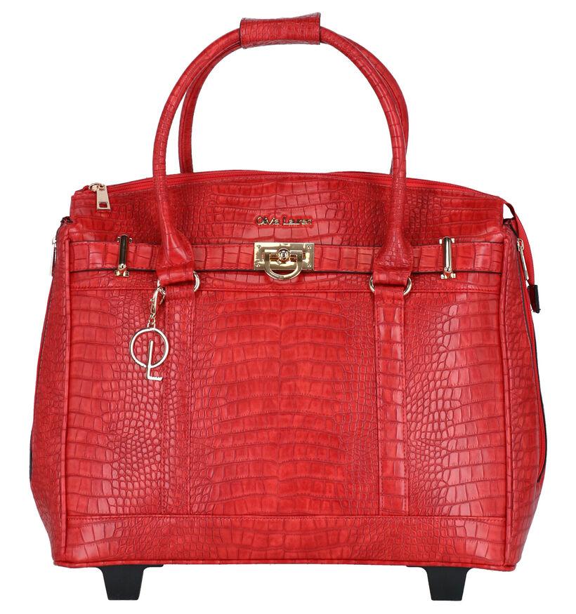 Olivia Lauren Louna  Sac à roulettes en Rouge en simili cuir (283515)