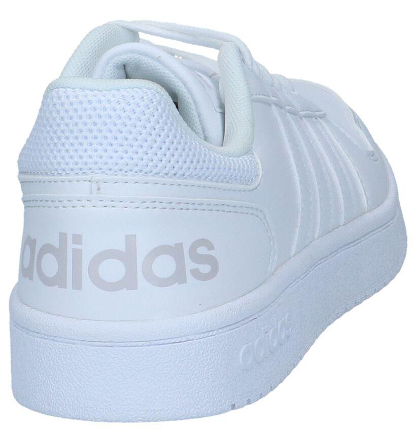 Witte Sneakers adidas Hoops 2.0 in kunstleer (252561)