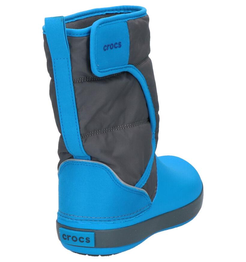 Crocs Lodgepoint Blauw/Grijze Snowboots in stof (255724)