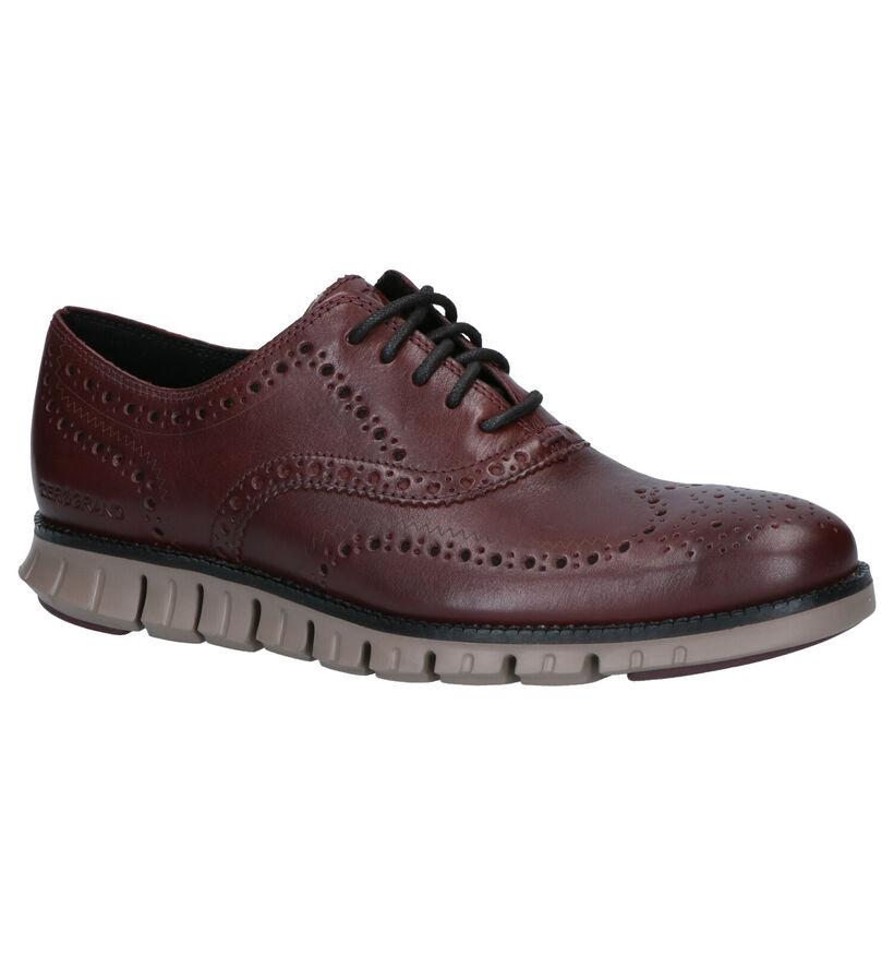 Cole Haan Zerogrand Chaussures habillées en brun en cuir (257906)
