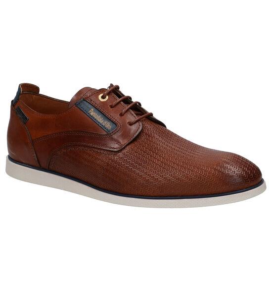 Pantofola d'Oro Urbino Low Cognac Geklede Veterschoenen