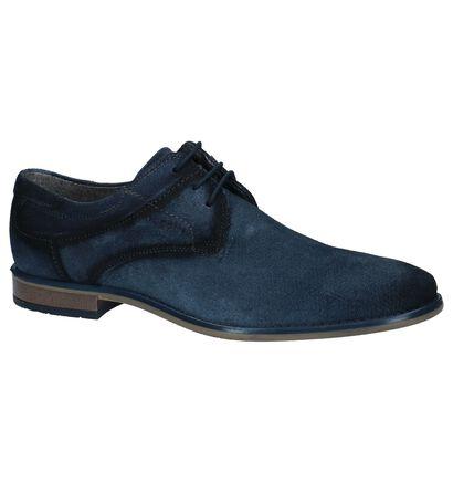 Bugatti Chaussures habillées en Bleu foncé en nubuck (221556)