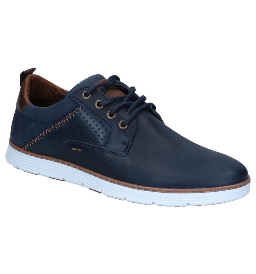 Bullboxer Chaussures basses en Bleu foncé en cuir (276953)
