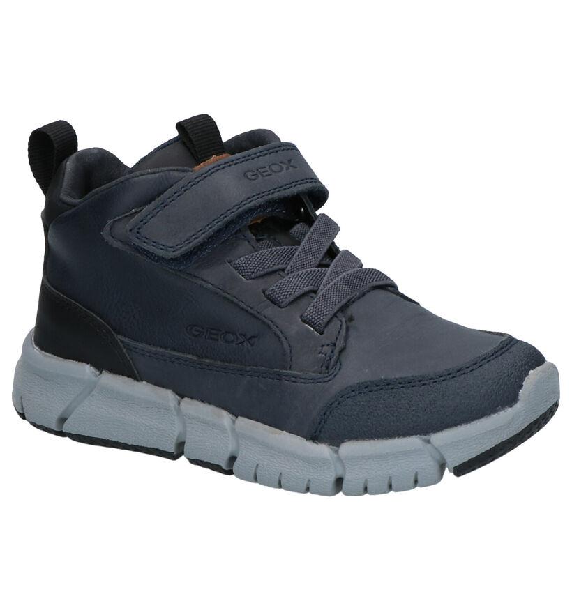 Geox Chaussures hautes en Bleu foncé en cuir (254534)