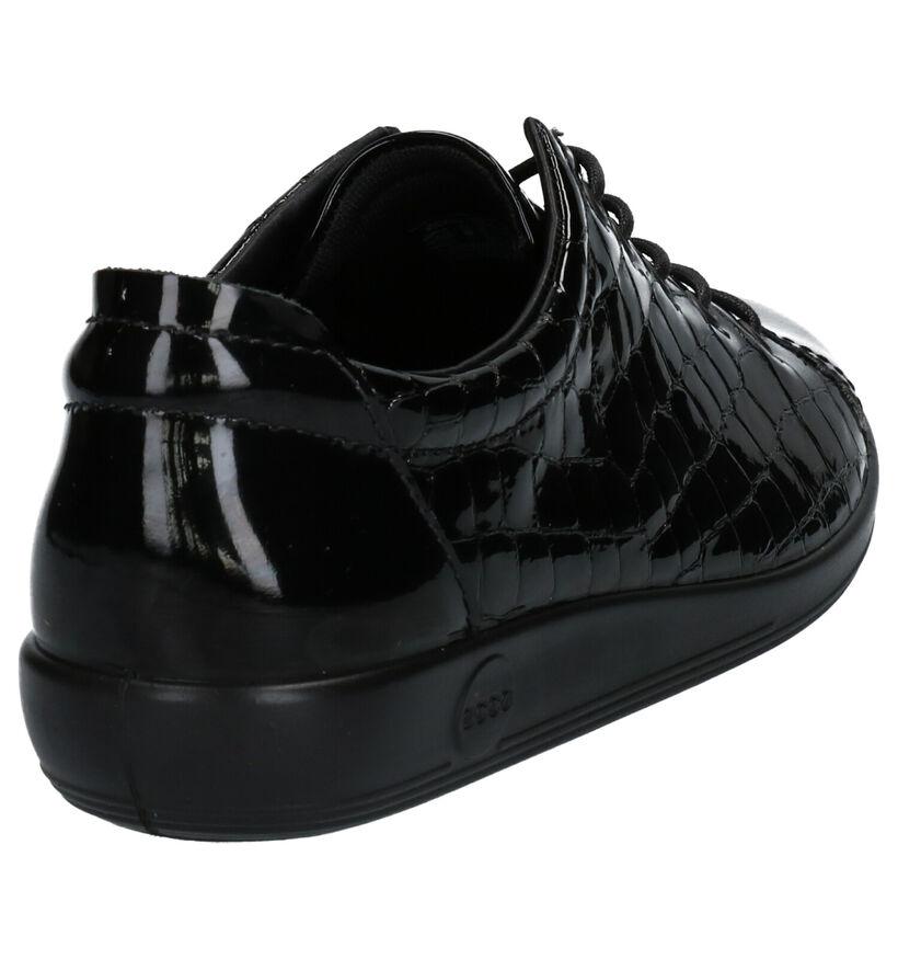 ECCO Soft 2.0 Chaussures à Lacets en Noir en cuir (254217)