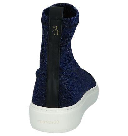 Blauwe Slip-on Sneakers met Glitters March 23 Coco in stof (233569)