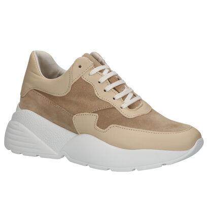 Via Limone Beige Sneakers in daim (264966)