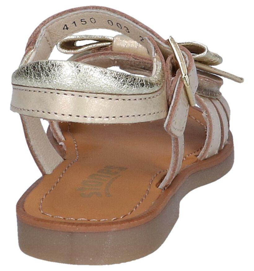 STONES and BONES Sandales en Or rose en cuir (239896)