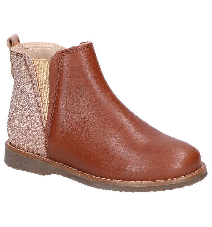 Beberlis Cognac Boots in leer (258943)