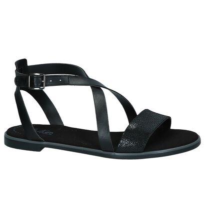 Clarks Sandales plates en Noir en cuir (241650)