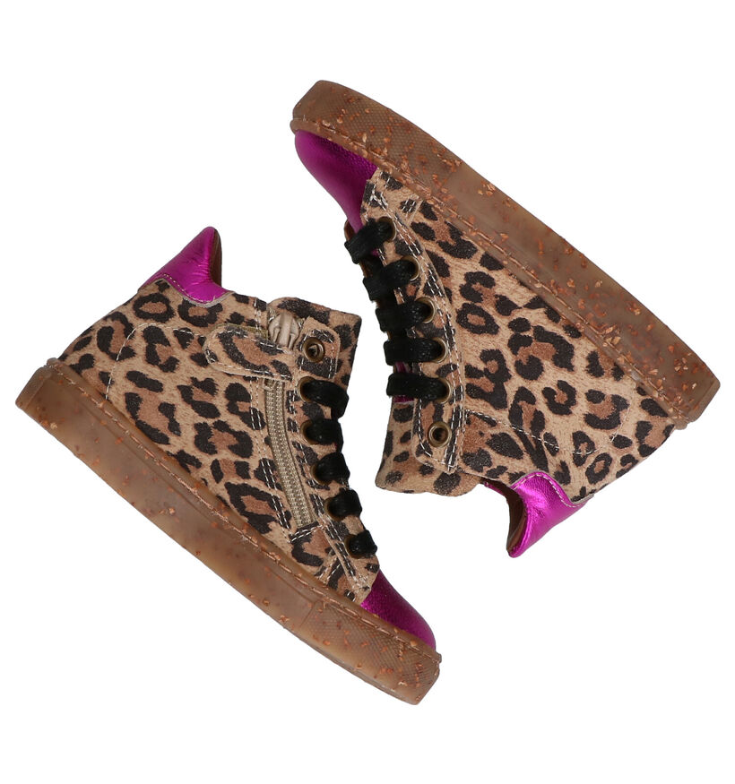 Milo & Mila Gora Chaussures Hautes en Brun/Violet en nubuck (281060)