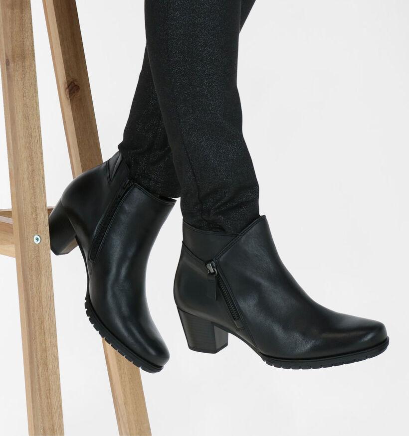 Gabor Bottillons en Noir en cuir (277857)