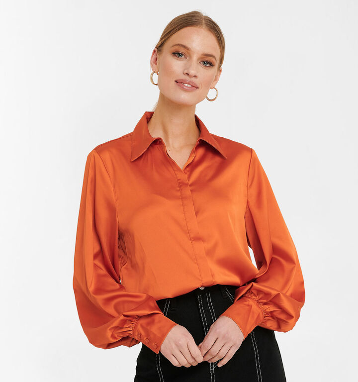 NA-KD Blouse en Orange