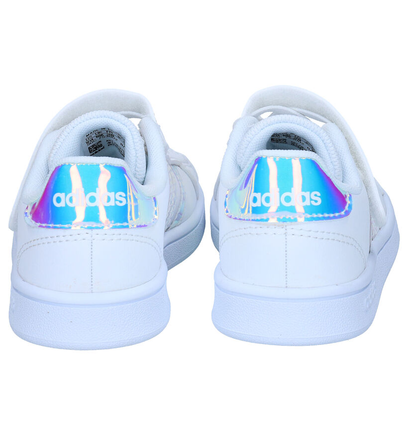 adidas Grand Court Witte Sneakers in kunstleer (273499)
