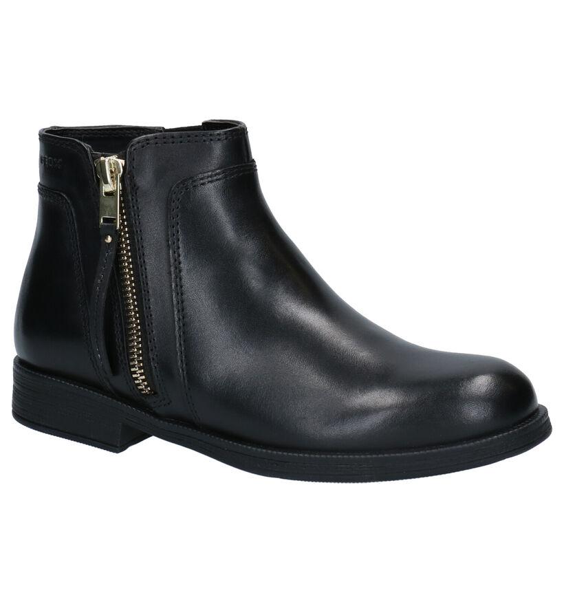 Geox Zwarte Laarzen in leer (254484)