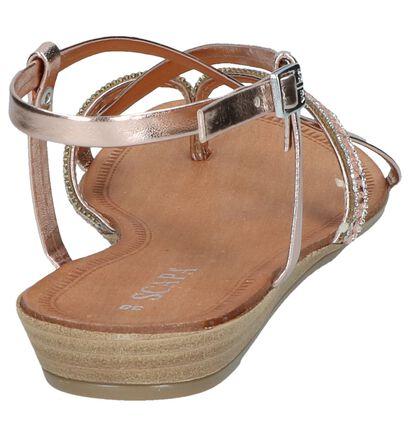 Scapa Sandales plates en Or en simili cuir (246100)