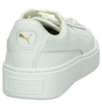 Witte Puma Basket Platform Sneakers, Wit, pdp