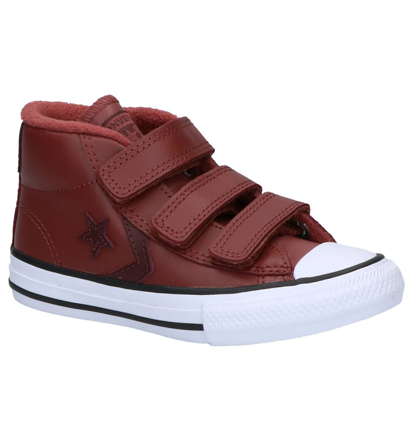 Converse Star Player Baskets en Brun en cuir (263510)