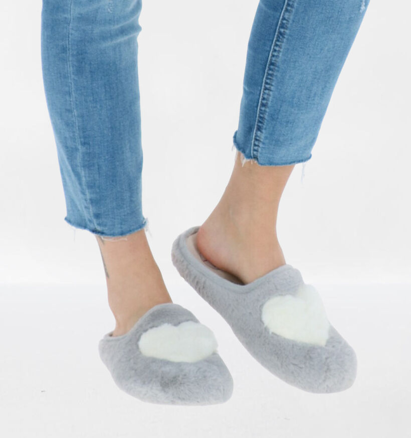 CM Confort Groseto Grijze Pantoffels in stof (278623)