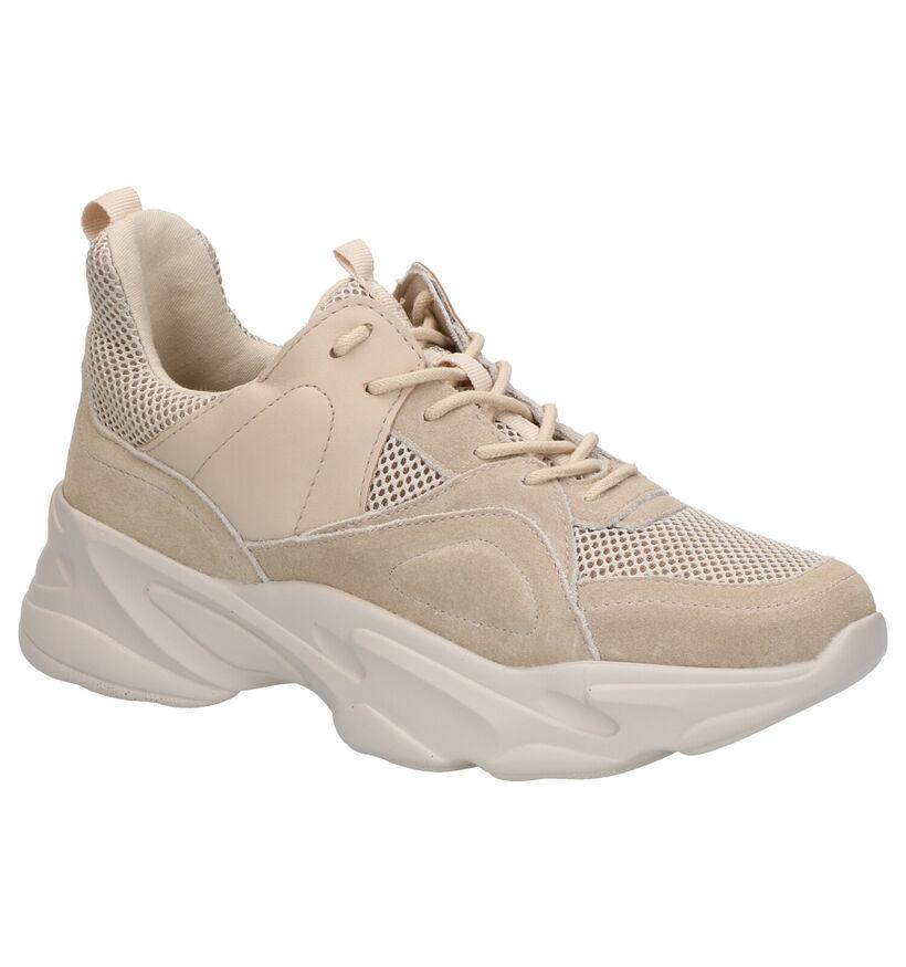Donkerbeige Lage Sneakers Steve Madden Movement in daim (267446)