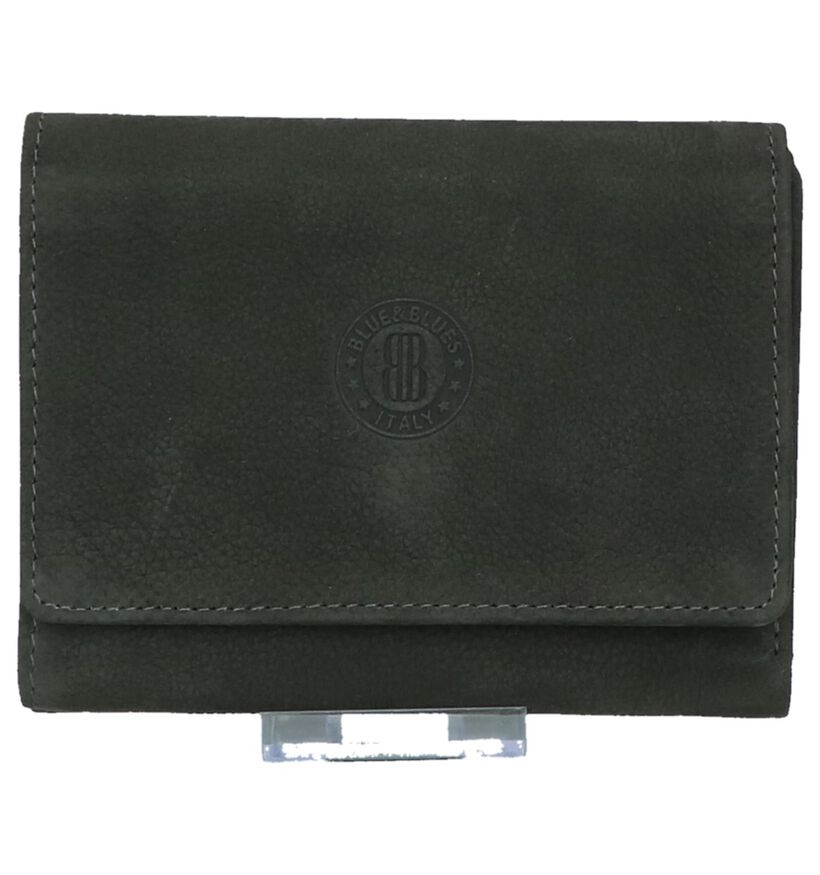Kaki Overslagportemonnee Euro-Leather in nubuck (220955)