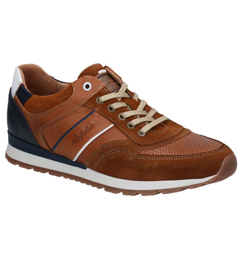 Australian Navarone Chaussures à lacets en Cognac en daim (289191)