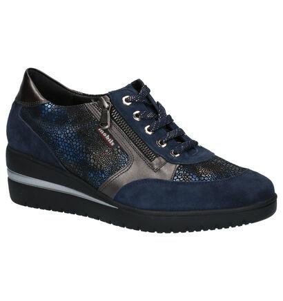 Mobils By Mephisto Patrizia Chaussures à Lacets en Bleu en nubuck (259750)