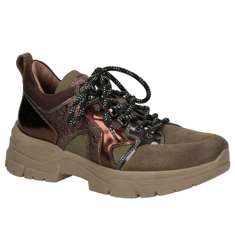 NeroGiardini Chaussures à lacets en Vert kaki en cuir (255329)