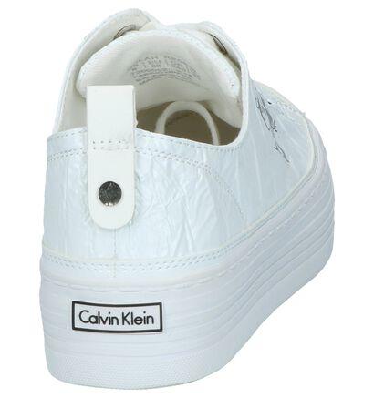 Calvin Klein Baskets basses en Blanc en simili cuir (241689)