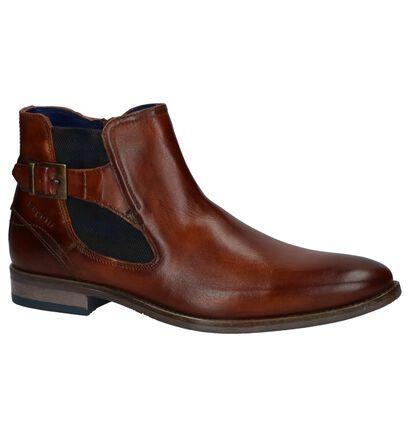 Bugatti Chaussures hautes en Cognac en cuir (223732)