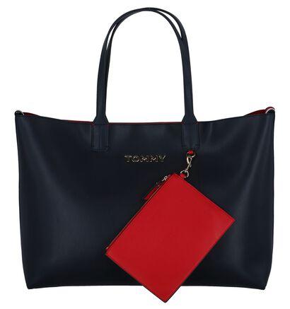 Donkerblauwe Shopper Tas Tommy Hilfiger Iconic Tommy Tote in kunstleer (256570)