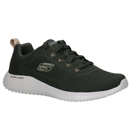 Skechers Bounder Rinstet Kaki Sneakers