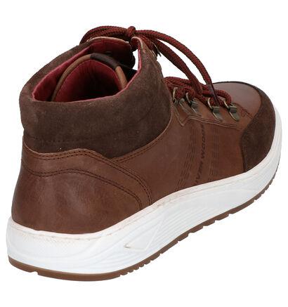 River Woods Cognac Boots in leer (259909)