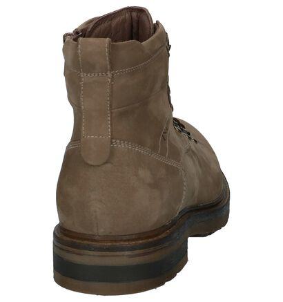 Taupe NeroGiardini Boots met Rits en Veter in leer (226530)
