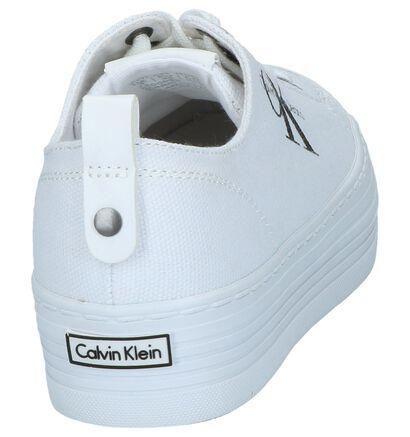 Lichtblauwe Lage Geklede Sneakers Calvin Klein Zolah in stof (213436)