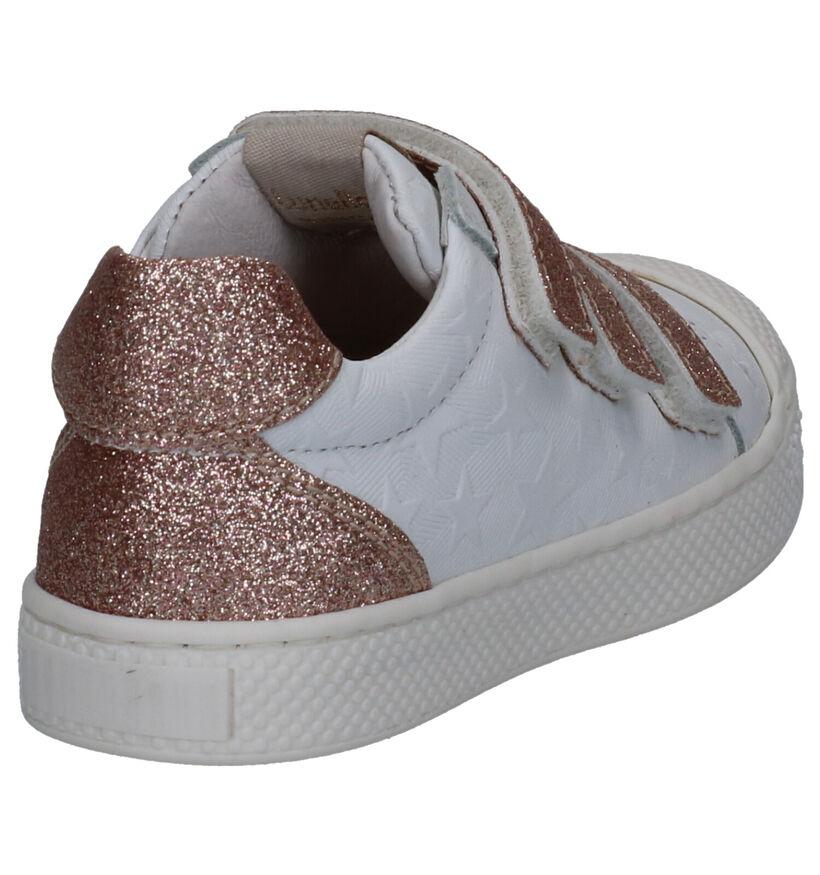 Lunella Witte Sneakers in leer (271382)