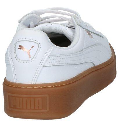 Puma Basket Platform Baskets basses en Blanc en cuir (207267)