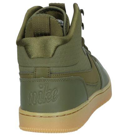Nike Ebernon Baskets hautes en Vert kaki en cuir (234897)
